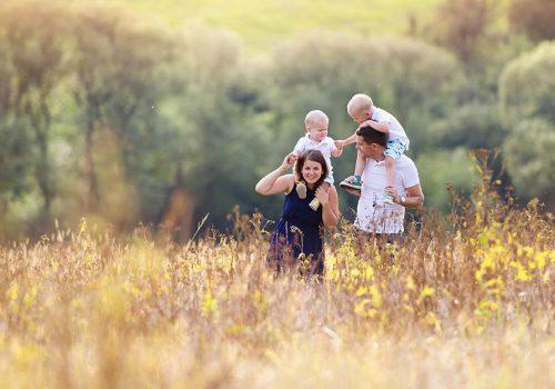 family-in-field